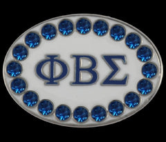 Phi Beta Sigma - cuff links with Swarovski crystals