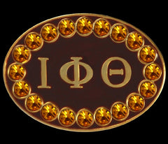 Iota Phi Theta - cuff links with Swarovski crystals