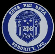 Zeta Phi Beta car emblem