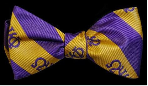 Omega Psi Phi bow tie & handkerchief set