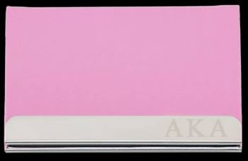 Alpha Kappa Alpha business card holder - pink