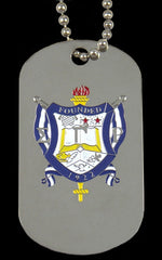 Sigma Gamma Rho - dogtag with chain