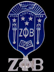 Zeta Phi Beta - shield lapel pin