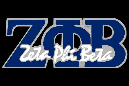 Zeta Phi Beta - signature blue lapel pin