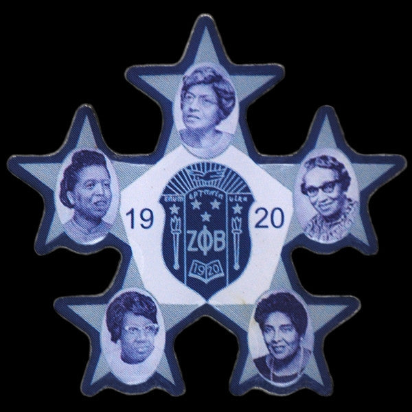 Zeta Phi Beta lapel pin - founders faces