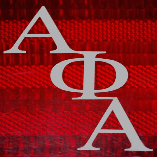 Alpha Phi Alpha tail light decals