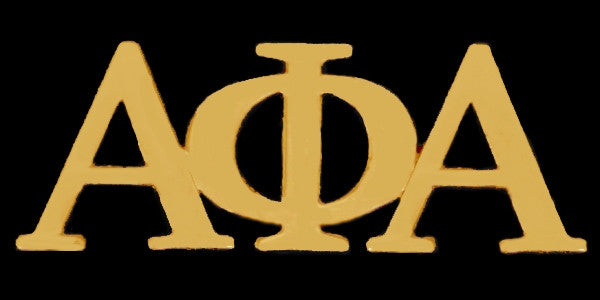 Alpha Phi Alpha lapel pin - gold letter