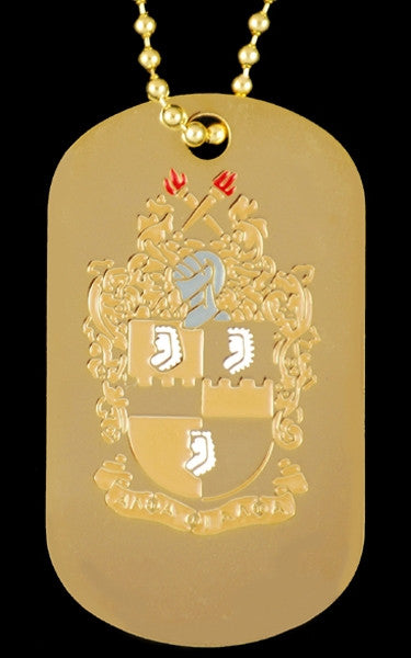 Alpha Phi Alpha dogtag with chain - gold
