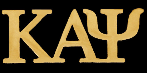 Kappa Alpha Psi lapel pin - gold letter
