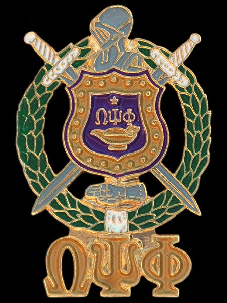 Omega Psi Phi lapel pin - shield