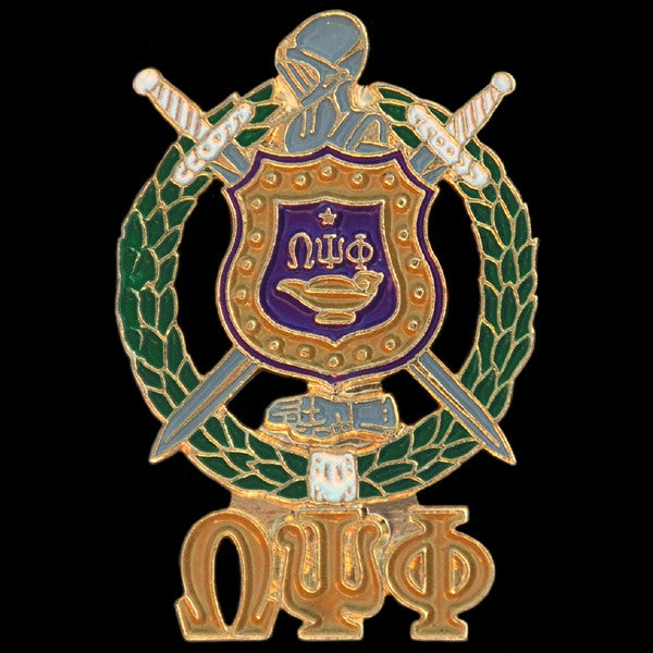 Omega Psi Phi cuff links - shield