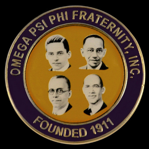 Omega Psi Phi lapel pin - Omega founders faces