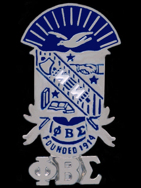 Phi Beta Sigma lapel pin - shield