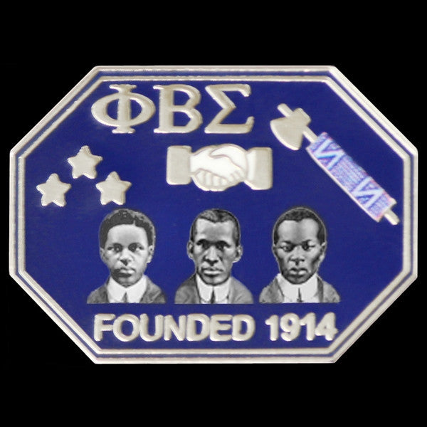 Phi Beta Sigma - founders faces lapel pin