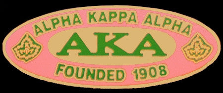 Alpha Kappa Alpha lapel pin - founded date