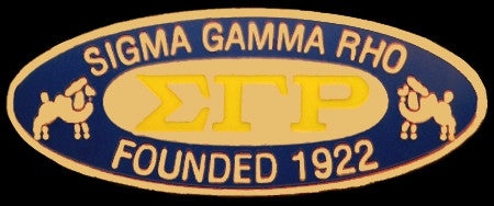 Sigma Gamma Rho lapel pin - founders