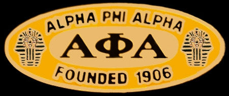 Alpha Phi Alpha lapel pin - oval founded date