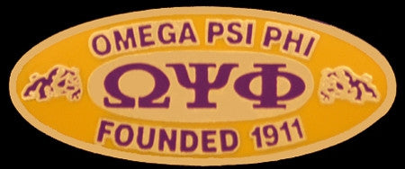Omega Psi Phi lapel pin - founders - oval