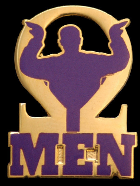 Omega Psi Phi lapel pin - Omega men