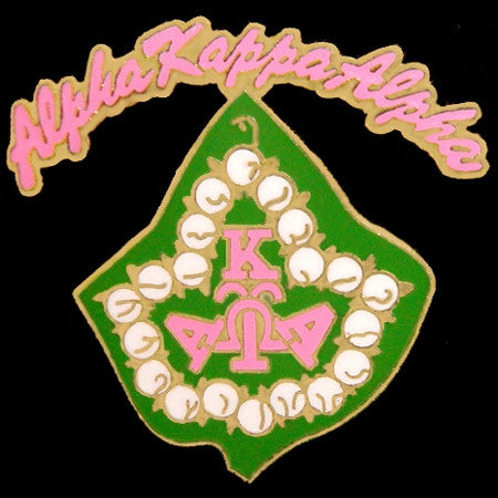 Alpha Kappa Alpha lapel pin - rocker ivy