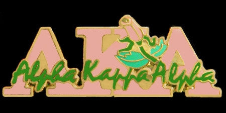 Alpha Kappa Alpha lapel pin - pink new image
