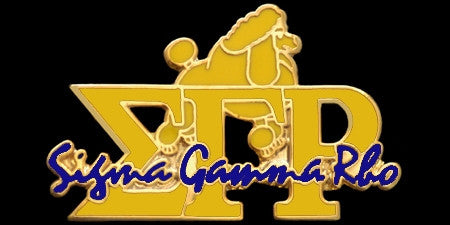 Sigma Gamma Rho lapel pin - new image yellow