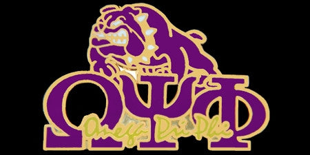 Omega Psi Phi lapel pin - bulldog new image