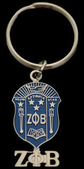 Zeta Phi Beta - shield keychain