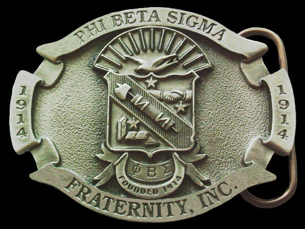 Phi Beta Sigma belt buckle - pewter finish