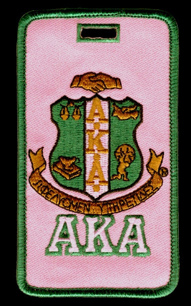 Alpha Kappa Alpha luggage tag - shield