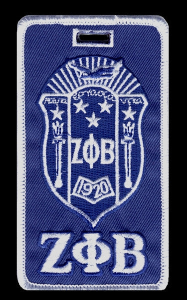 Zeta Phi Beta - shield luggage tag
