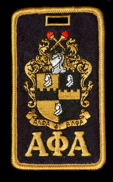 Alpha Phi Alpha luggage tag - shield