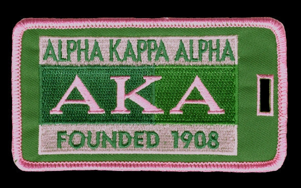 Alpha Kappa Alpha luggage tag - founded date
