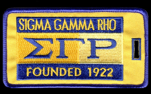Sigma Gamma Rho luggage tag - founded date