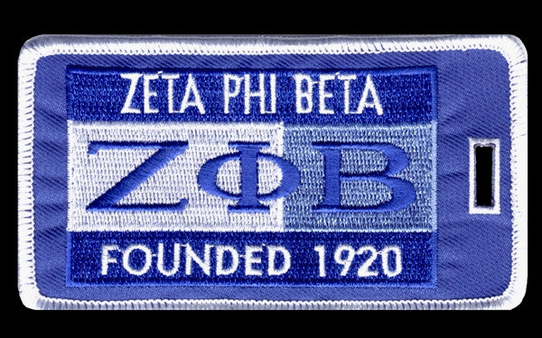 Zeta Phi Beta luggage tag - founded date