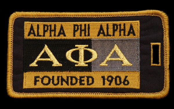 Alpha Phi Alpha luggage tag - founded date