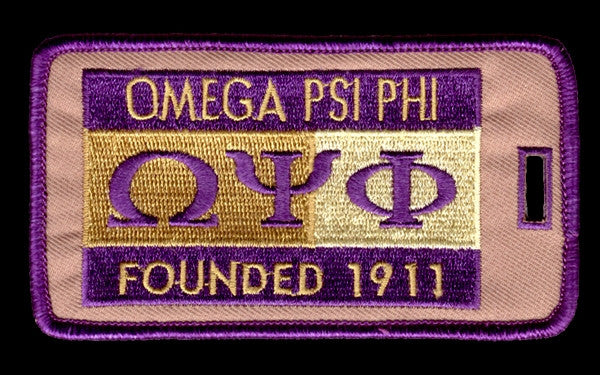 Omega Psi Phi luggage tag - founded date