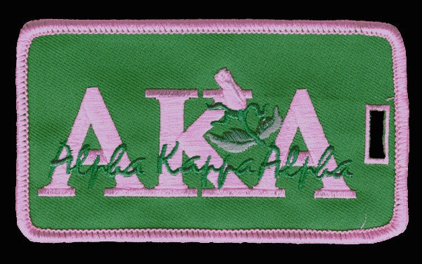 Alpha Kappa Alpha luggage tag - signature