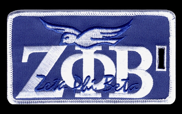 Zeta Phi Beta - signature luggage tag