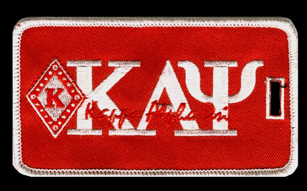 Kappa Alpha Psi luggage tag - diamond