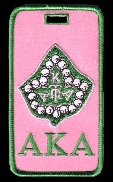 Alpha Kappa Alpha luggage tag - ivy leaf
