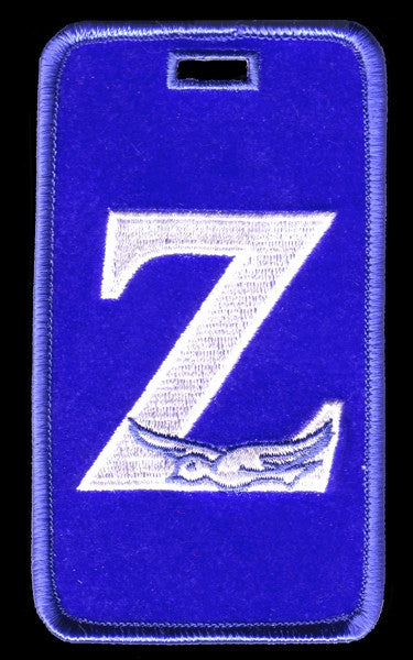 Zeta Phi Beta luggage tag - Z with dove