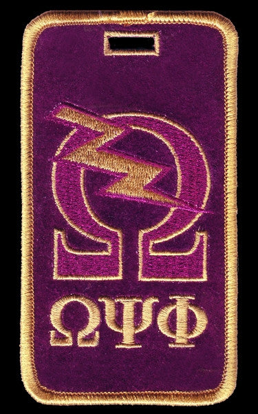 Omega Psi Phi luggage tag - Omega Bolt