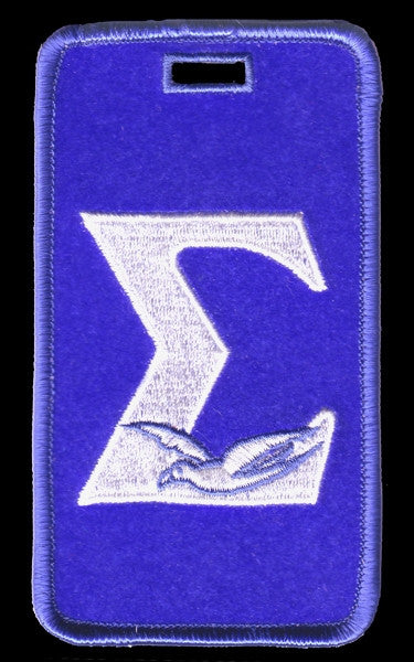 Phi Beta Sigma luggage tag - Sigma with dove