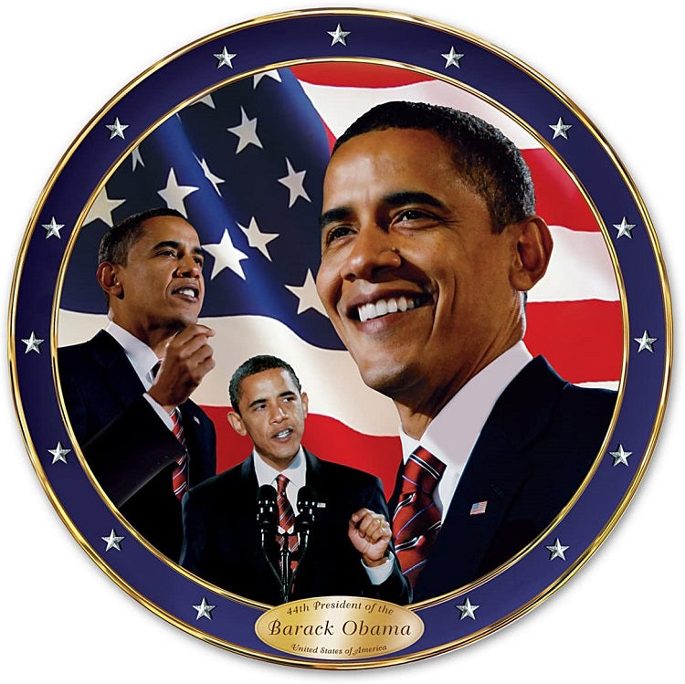 President Obama Yes We Can - commemorative plate