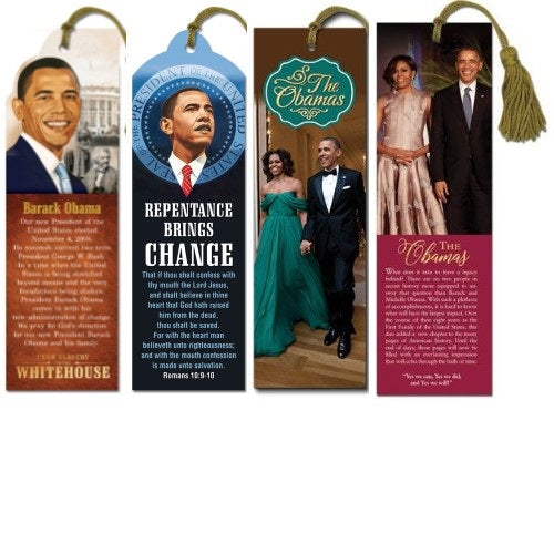 Obamas bookmarks - set of 4