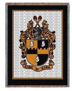 Alpha Phi Alpha tapestry - cotton throw - PCY