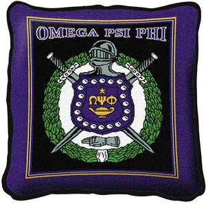 Omega Psi Phi pillow - purple