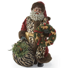 Safari Santa - Black Santa figurine