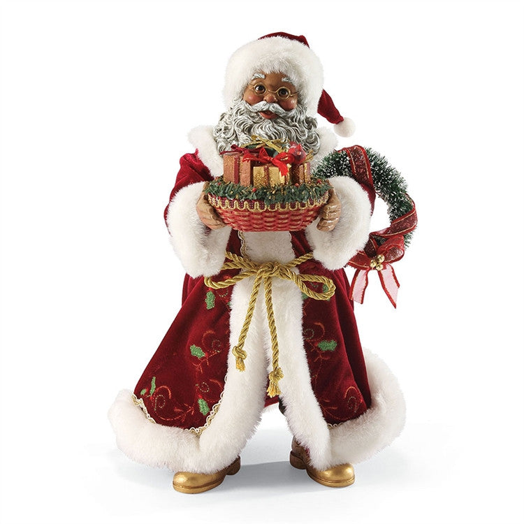 Sharing The Season - Black Santa figurine